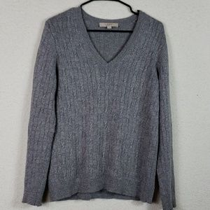 Ann Taylor left gray sparkly sweater size large